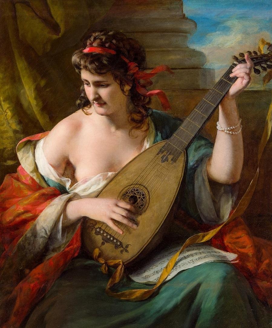1873 Луиза Новак в образе лютнистки (Luise Nowak as lute player)