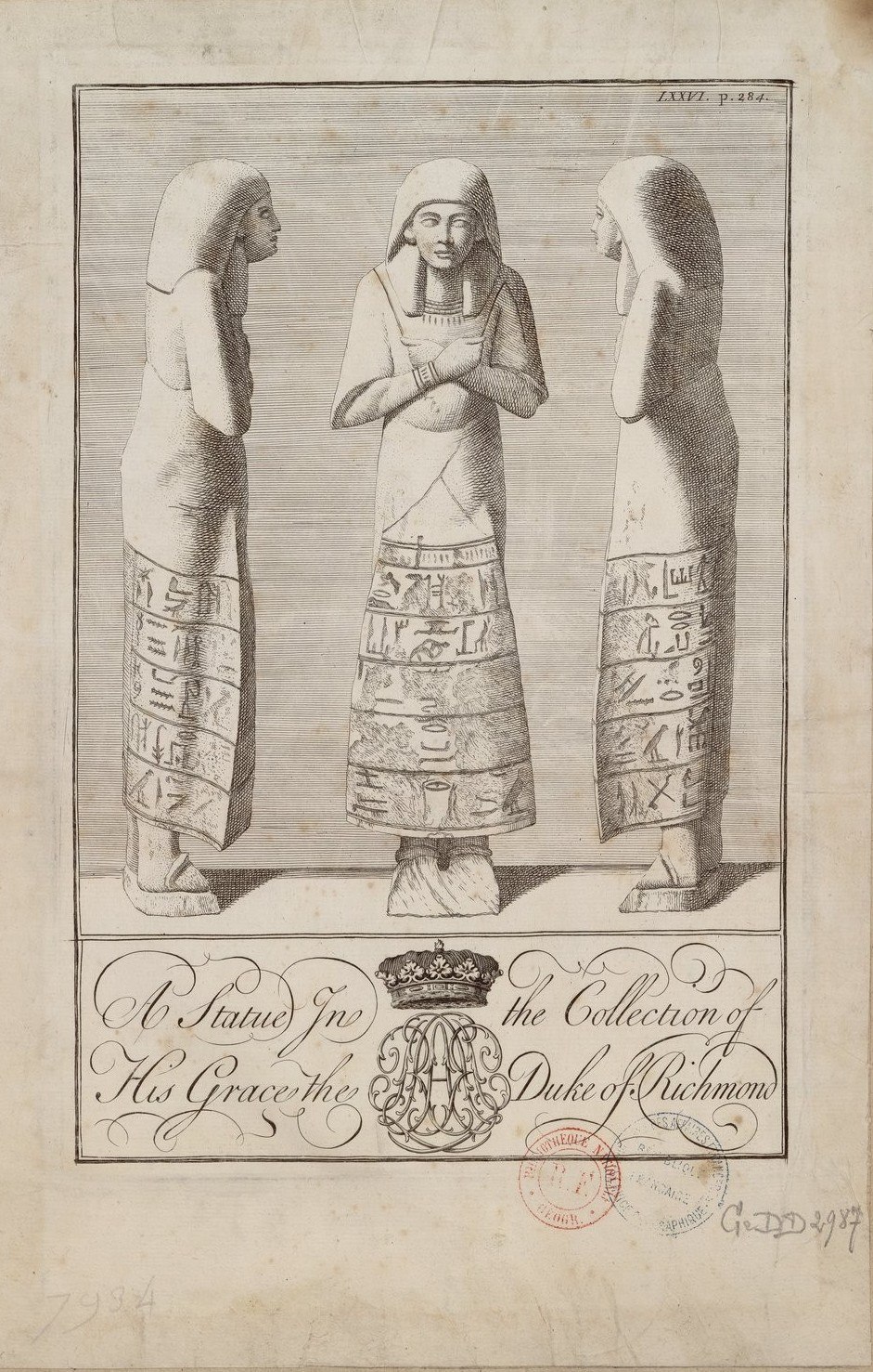 Статуя из коллекции принца Чарльза, герцога Ричмонда