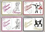 Танец, бальные танцы, фламенко. ЭСКИЗЫ для вышивки обложек на паспорт, автодокументы