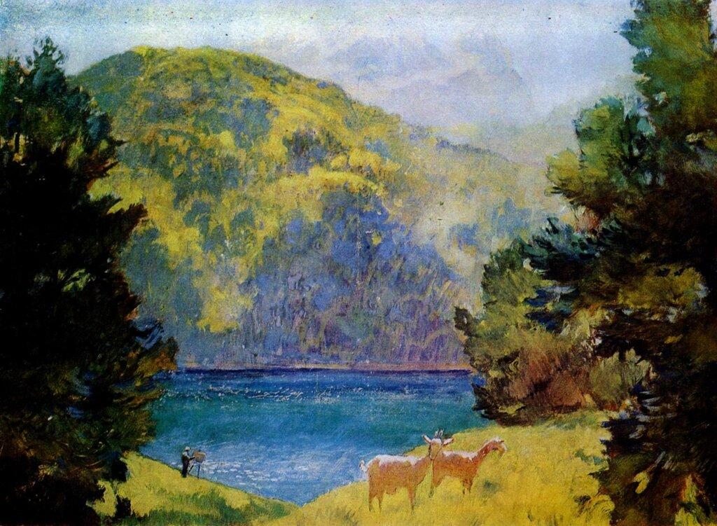 лансере Озеро Гель-Гель. 1943