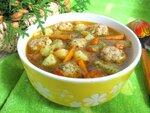 Кабачковый суп с куриными фрикадельками
