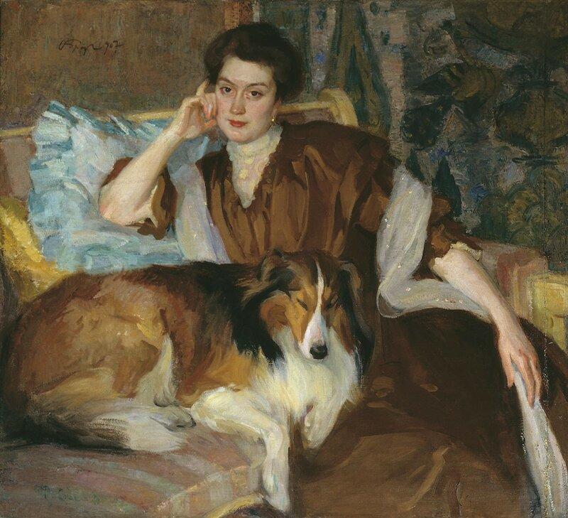 иосиф браз портрет жены 1907г.