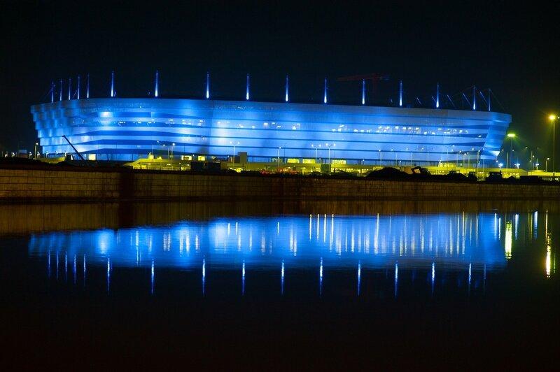 Подготовка к чемпионату мира по футболу в Калининграде.
