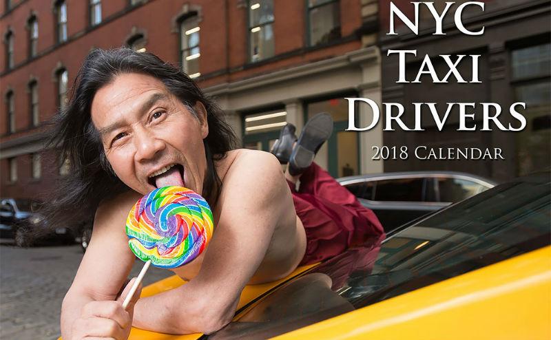 Хотят на работу в FakeTaxi? Нью-йоркские таксисты источают сексуальность для календаря на 2018 год (13 фото)