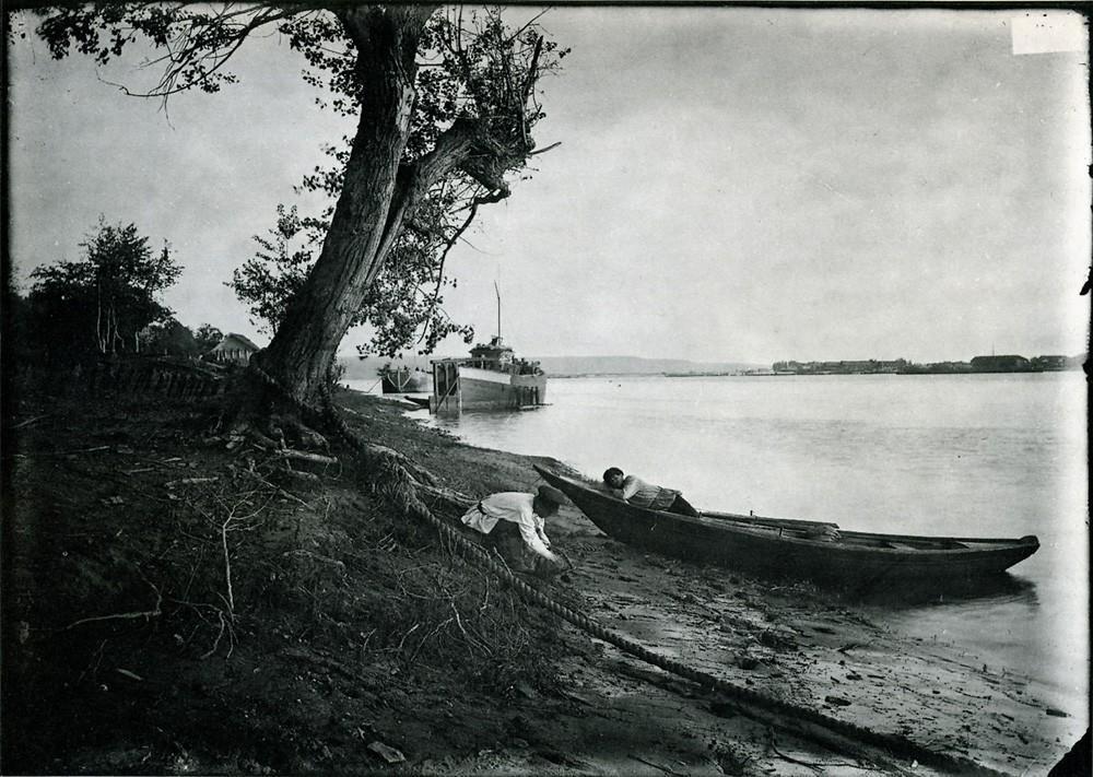 35. Слуда. Вид на берег Оки. Негатив 18×24см.