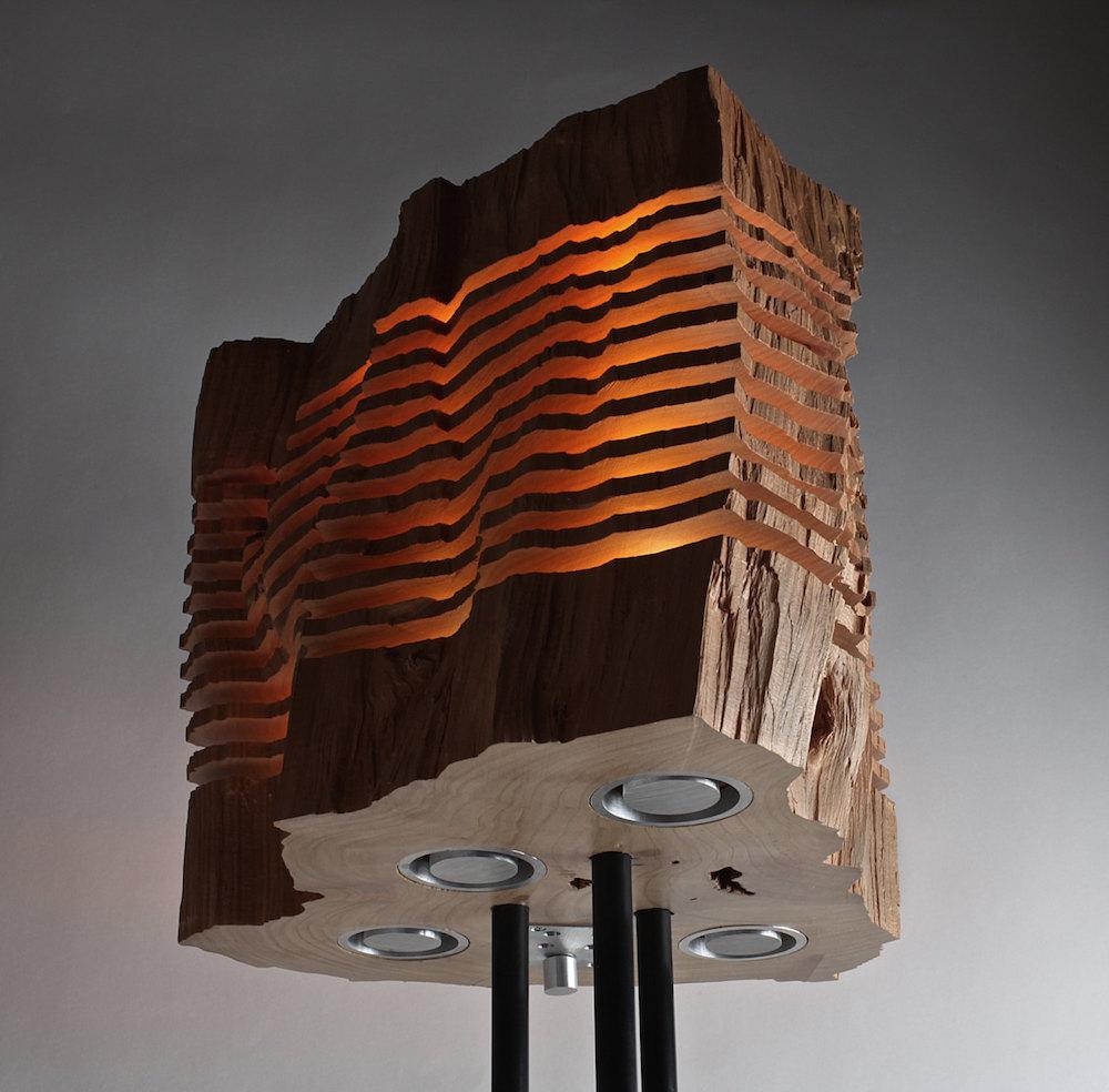 Minimalist wooden light sculptures by Split Grain (7 pics)