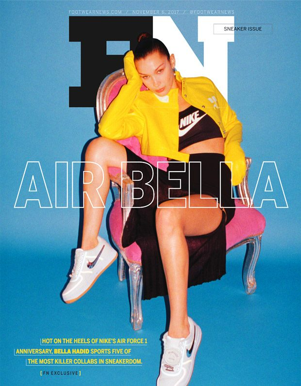 Bella Hadid Stars in Footwear News November 2017 Issue (19 pics)