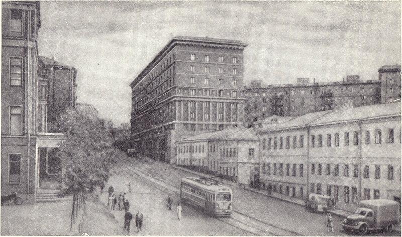 Подколокольный переулок, бывшая площадь Хитрова рынка. 1957 год
