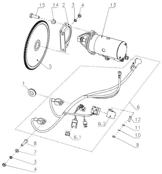 Схема электро-запуска Бурана СБ-640 МД