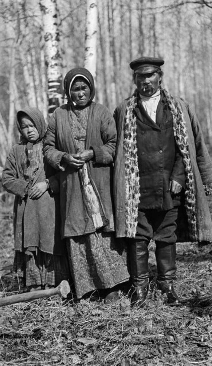 Моисейка Варгананзин с его женой и дочерью