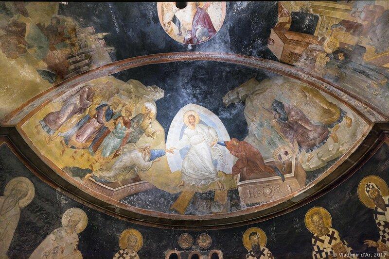 Сошествие во Ад. Мозаики и фрески монастыря Хора. Церковь Христа Спасителя в Полях.