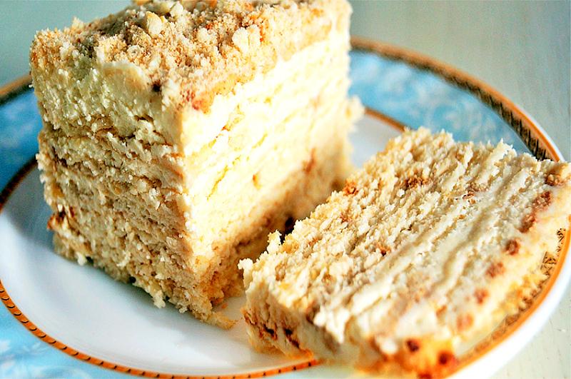 Рецепт торта без выпечки с нежным творожным кремом