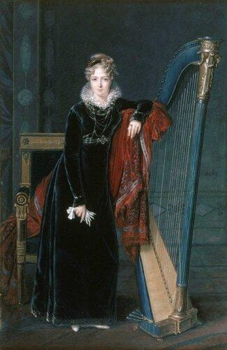 Louis-François Aubry (French, 1770-1850) Portrait de la Baronne de Benoist. 1810