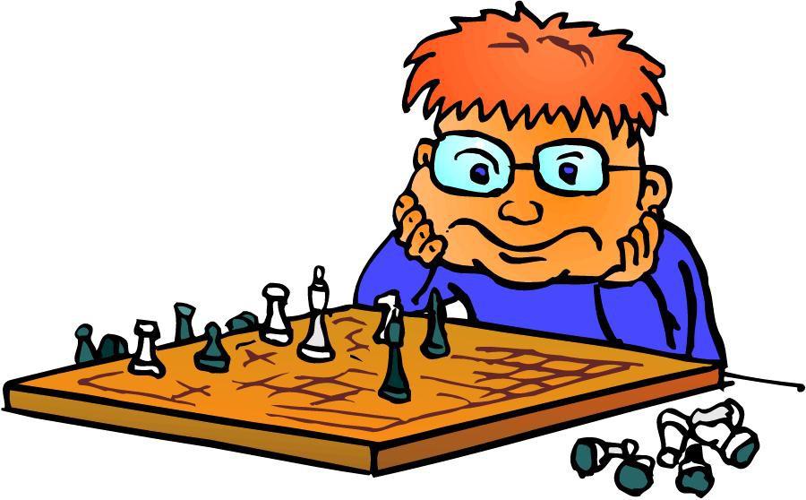С Международным днем шахмат. Парень за шахматной доской открытки фото рисунки картинки поздравления