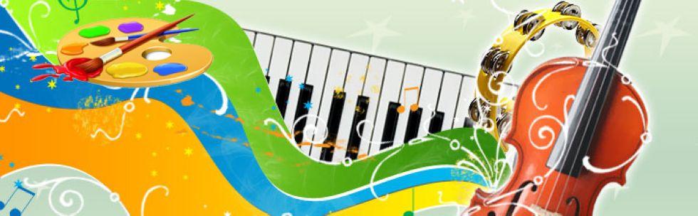 Открытки. 1 октября. Международный День Музыки! Краски музыки