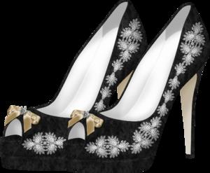 черно-серые туфли