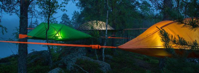 Tentsiles, Финляндия Эколагерь в национальном парке Нууксио — это не обычный палаточный городок: пал