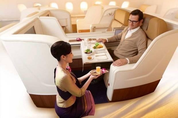Thai Airways предлагает лучшие кресла и безумно высокий уровень обслуживания.