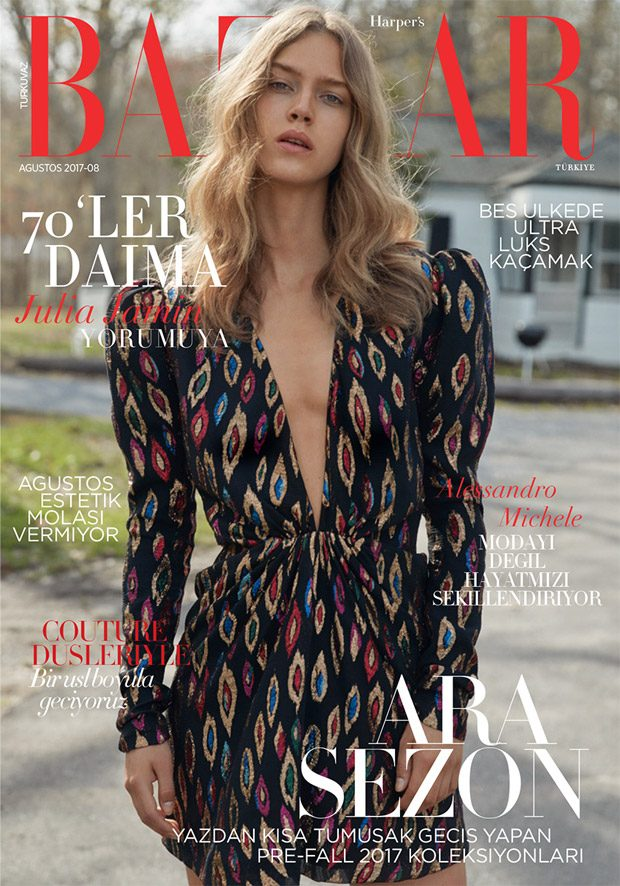 Fashion photographer David Roemer at Atelier Management captured the cover story of Harper's Bazaar
