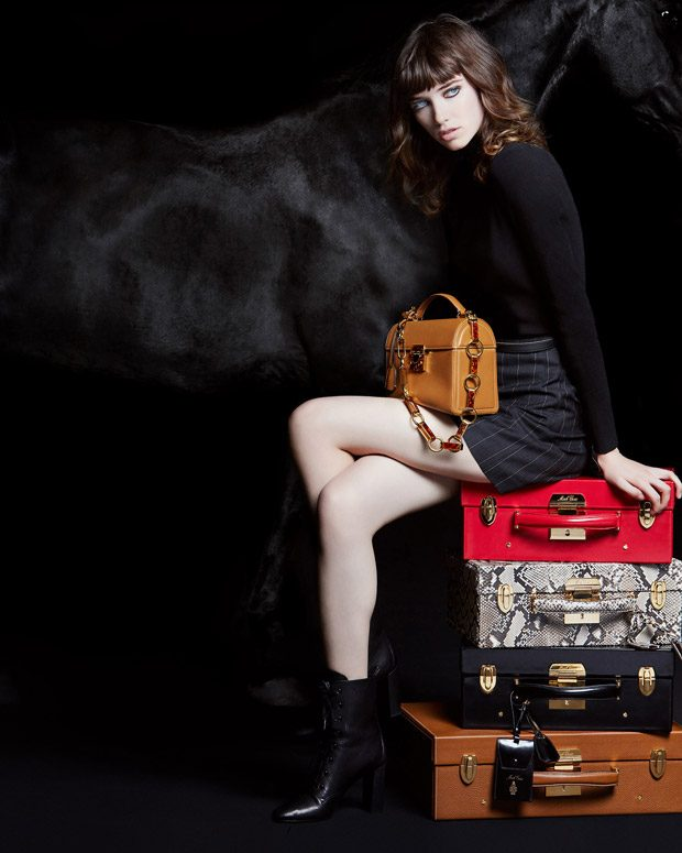 Grace Hartzel Models Mark Cross Holiday 2017 Collection (3 pics)
