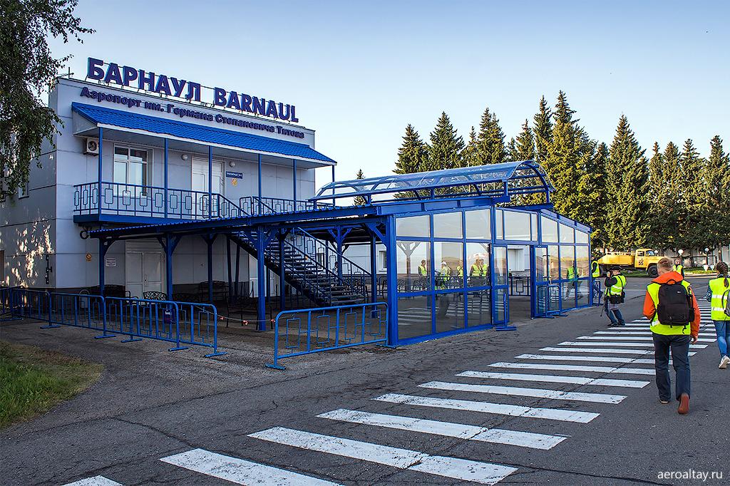 Споттинг в аэропорту Барнаула в августе 2017