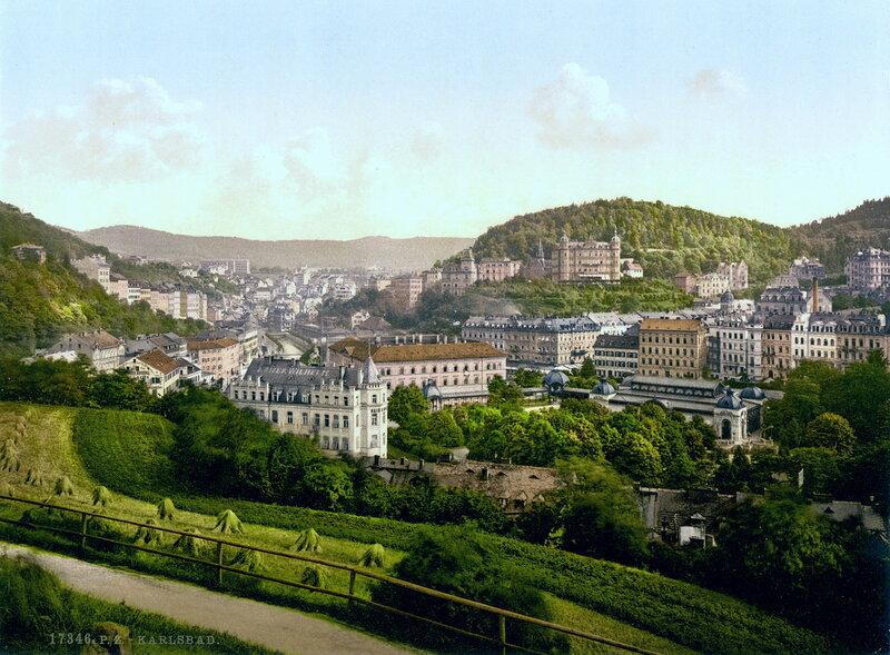 Общий вид на Карлсбад (Карловы Вары), конец XIX века