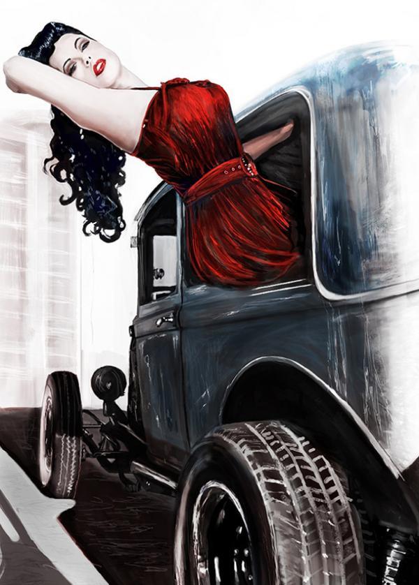 Digital Pin Up Art - Kelly Futerer