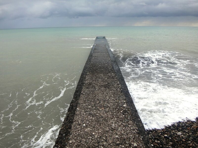 У моря Чёрного, в Абхазии, время зимнее, Новогоднее (27).JPG