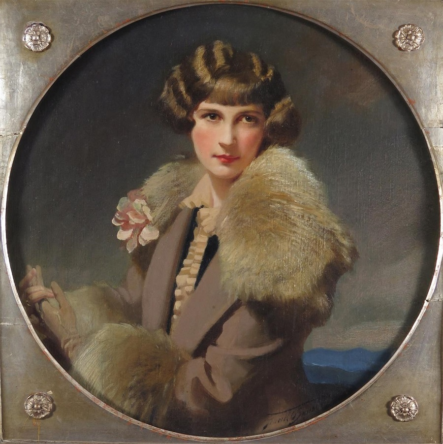 Portrait of Monica, Mrs Leonard Norris, the artist's daughter.Jpeg