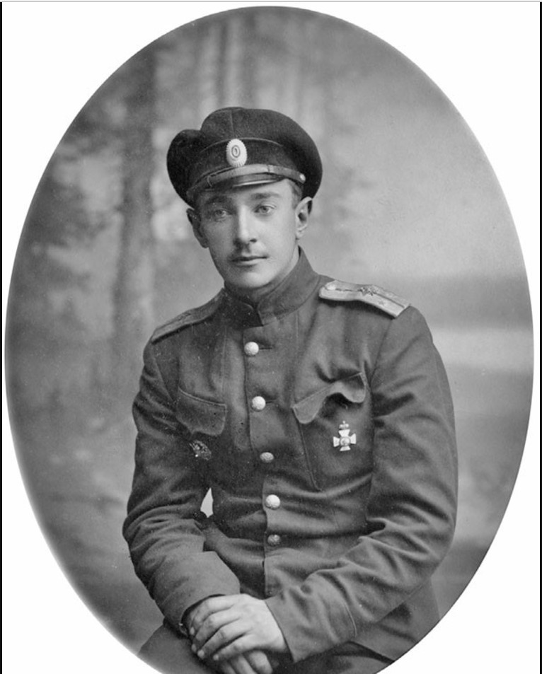 Штаб-капитан военный летчик Э. М. Битте. 1919
