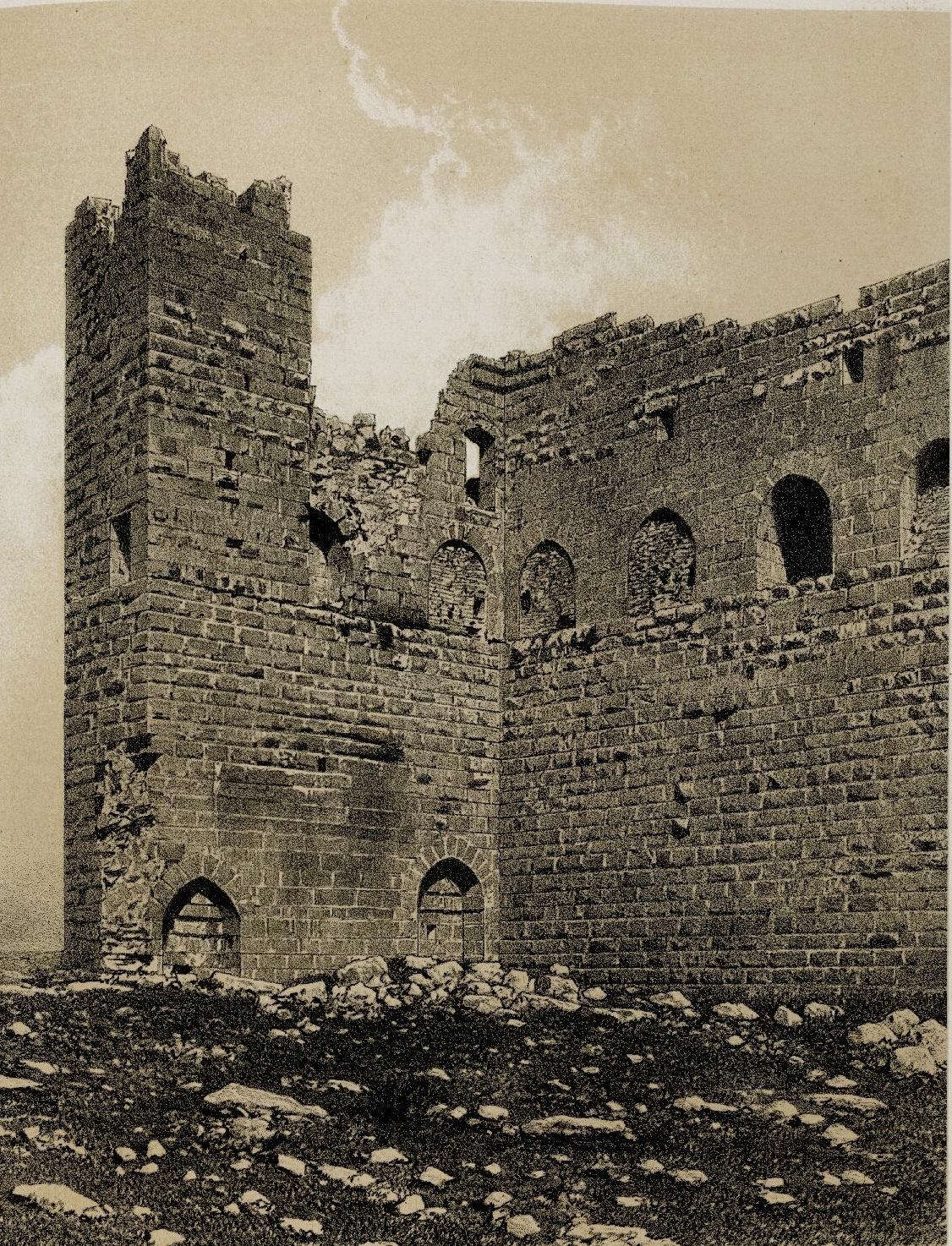 68. Эль-Карак. Детали башни, известной как Малк-эд-Дахер
