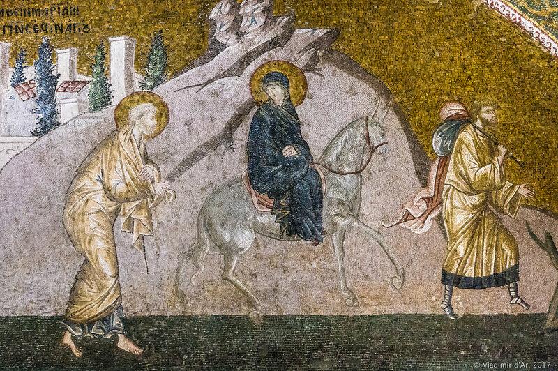 Путешествие в Вифлеем. Мозаики и фрески монастыря Хора.