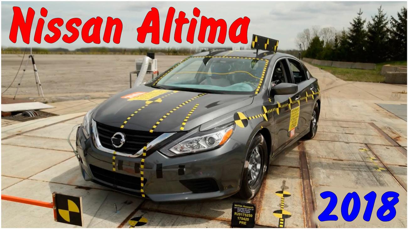 Фронтальный краш тест Nissan Altima 2018