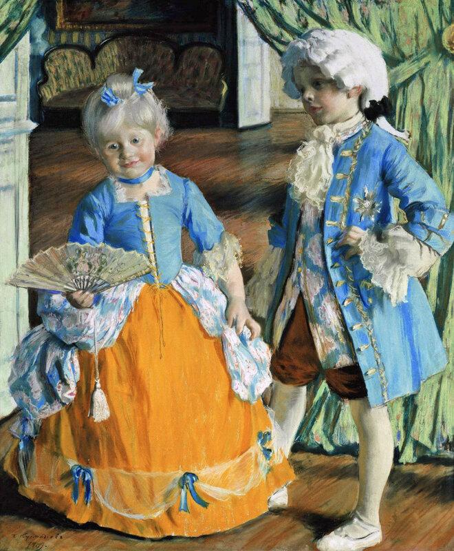 Дети в маскарадных костюмах, 1909