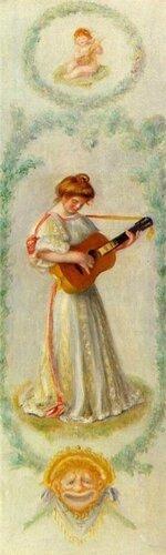 Пьер Огюст Ренуар часть диптиха Музыка 1895