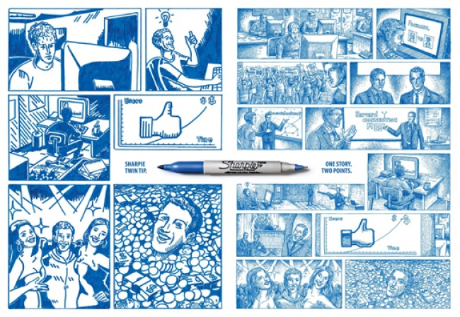 © sharpie      12. Scribe pencils умеют оживлять рисунки