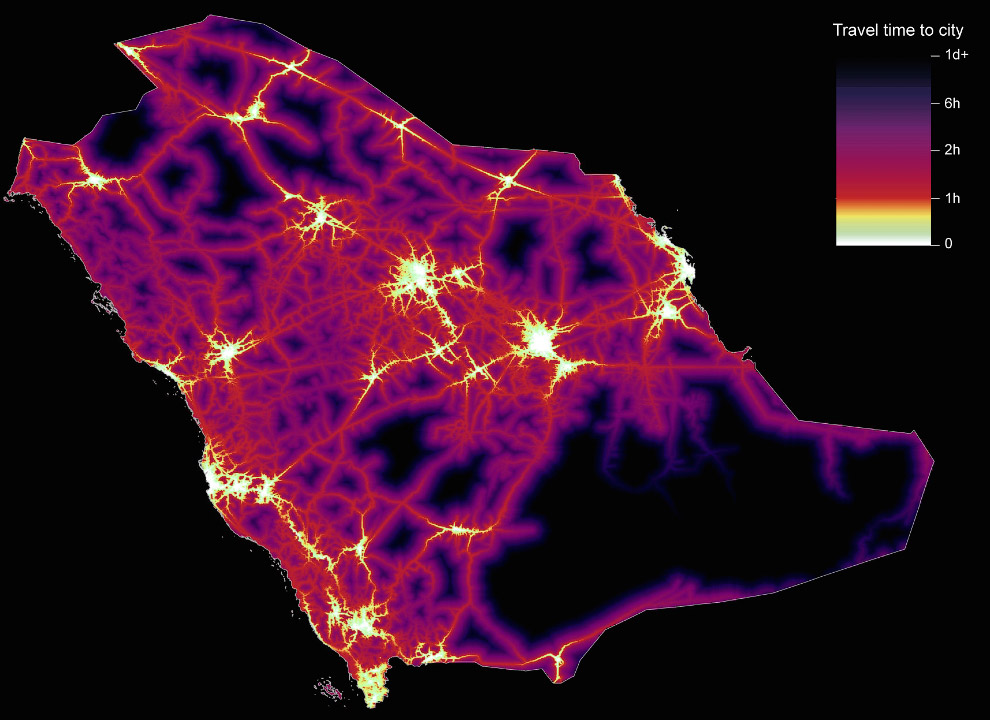 8. Египет. Городские центры расположены вдоль берегов Нила, почти повторяя контуры самой реки. (Фото