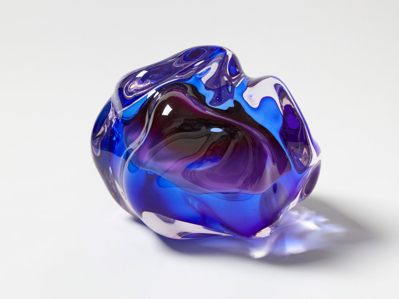 Fluid Rocks: Artist Flavie Audi Forms Gem-Like Sculptures from Glass (7 pics)