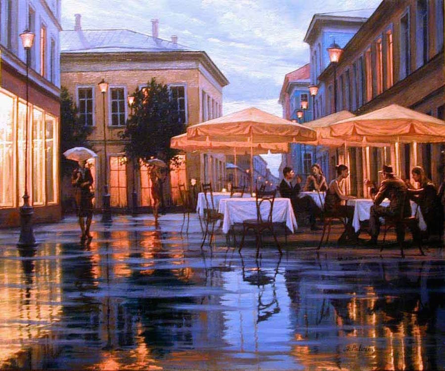 Beautiful Night Cityscapes Paintings