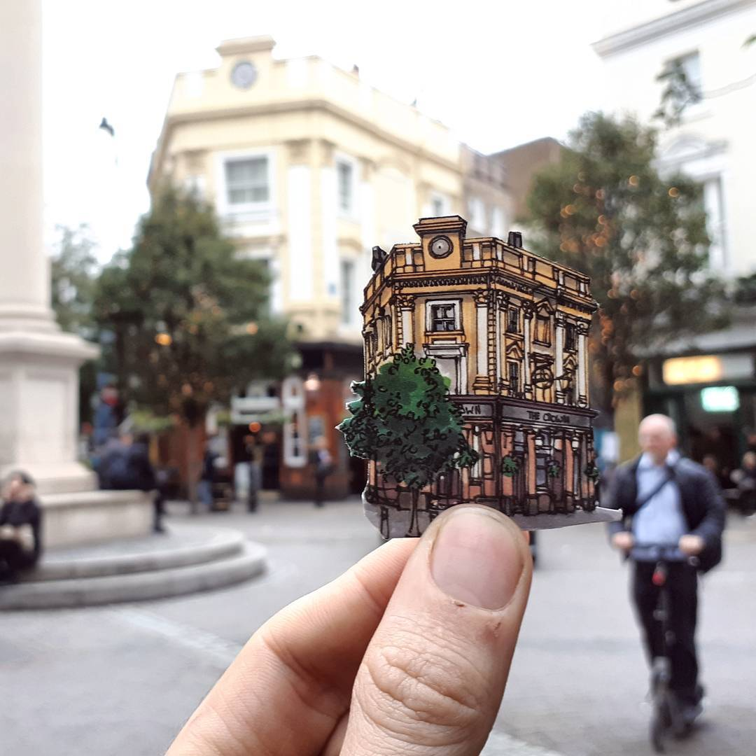 Stunning Tiny Illustrations of London's Landmarks (13 pics)