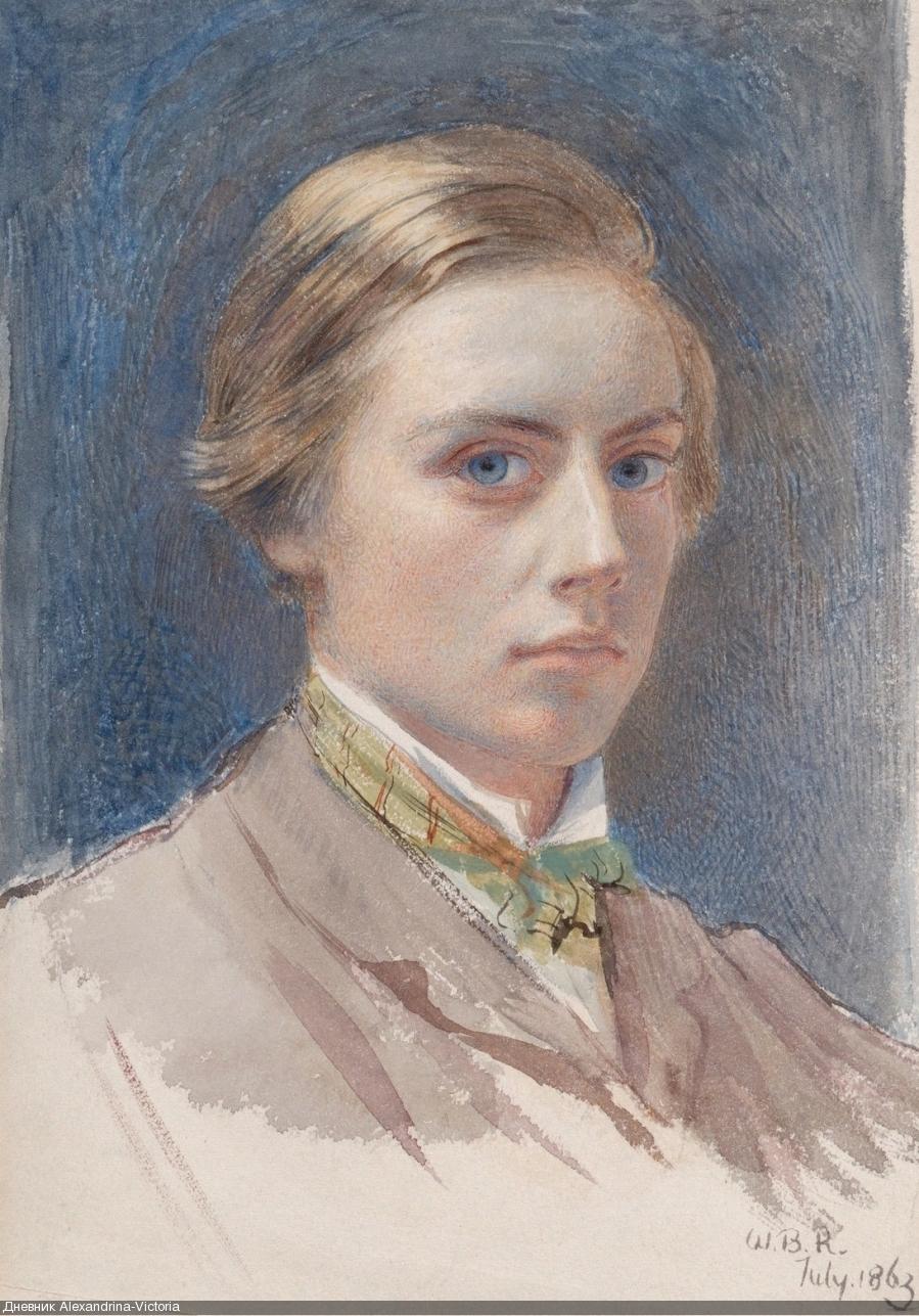 1863 Автопортрет в возрасте 21 года  Нью-Йорк, Музей Метрополитен