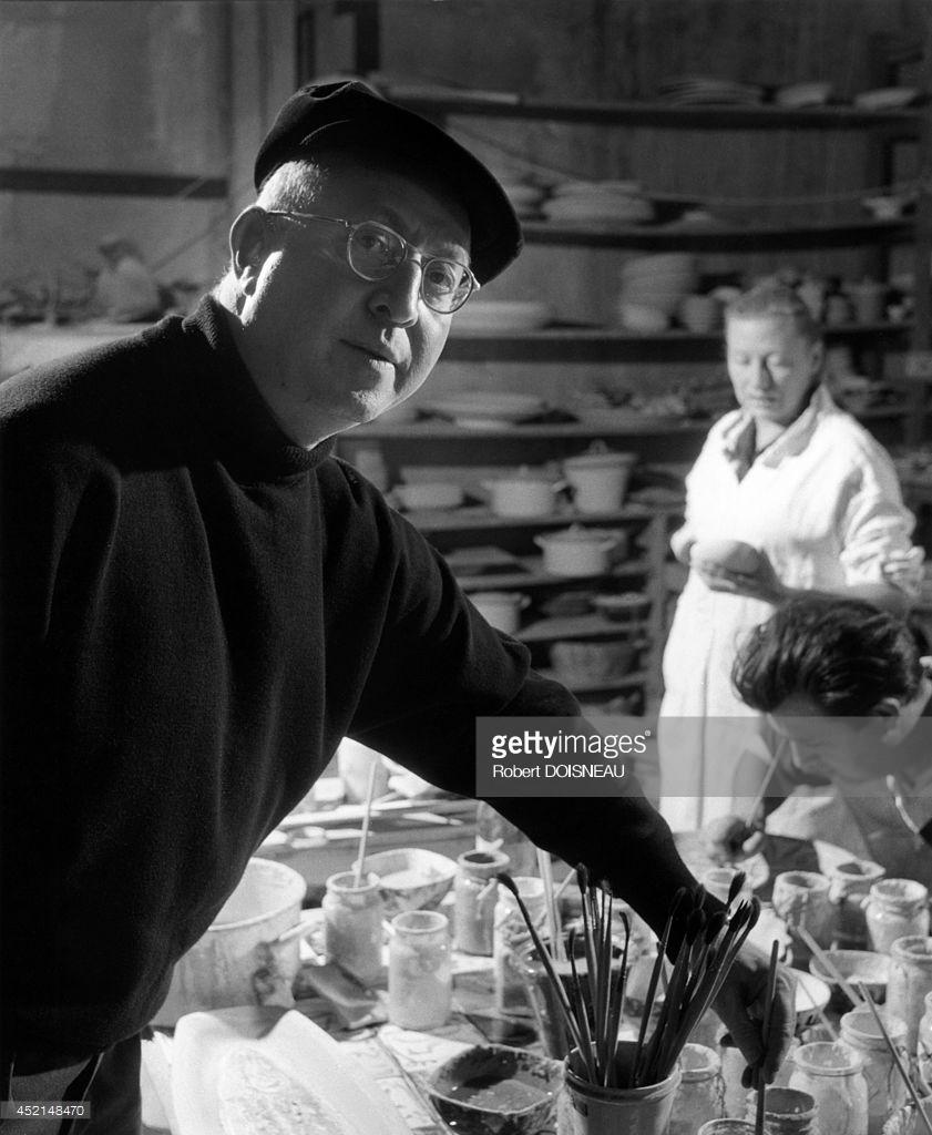 1945. Портрет французского художника Габриэля Зенделя