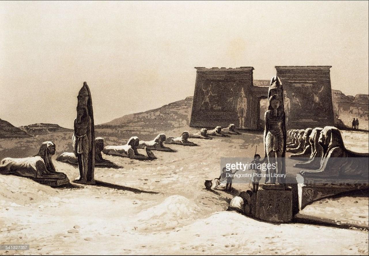 1841. Храм построенный Сети I в честь Рамсеса II