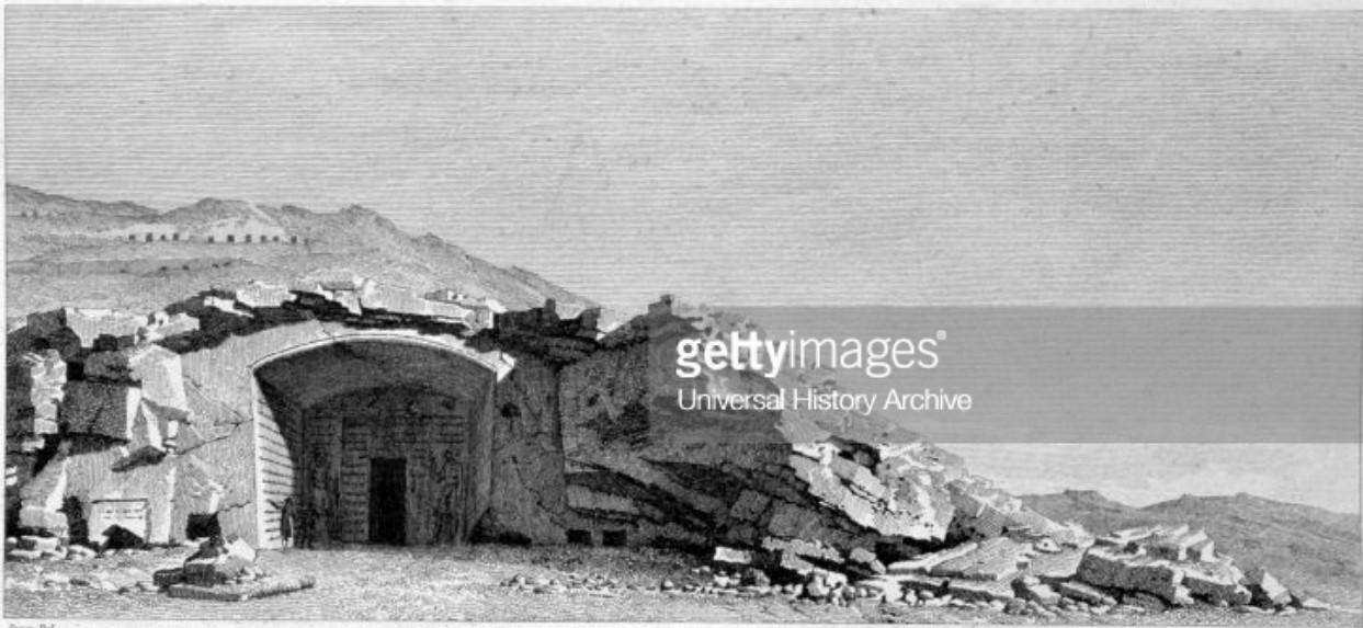 1841. Лакополис. Вход в гробницу