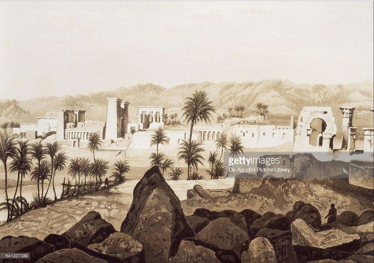 1841. Филе. Остров Филе, увиденный с острова Бига