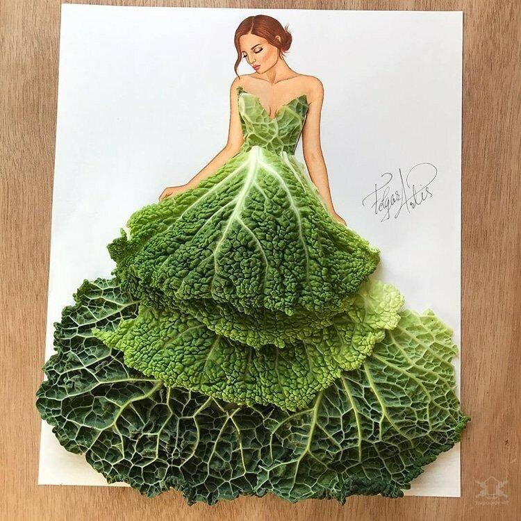 0 17e85d 9e2a394d XL - Эскизы платьев в сочетании с едой и др. предметами