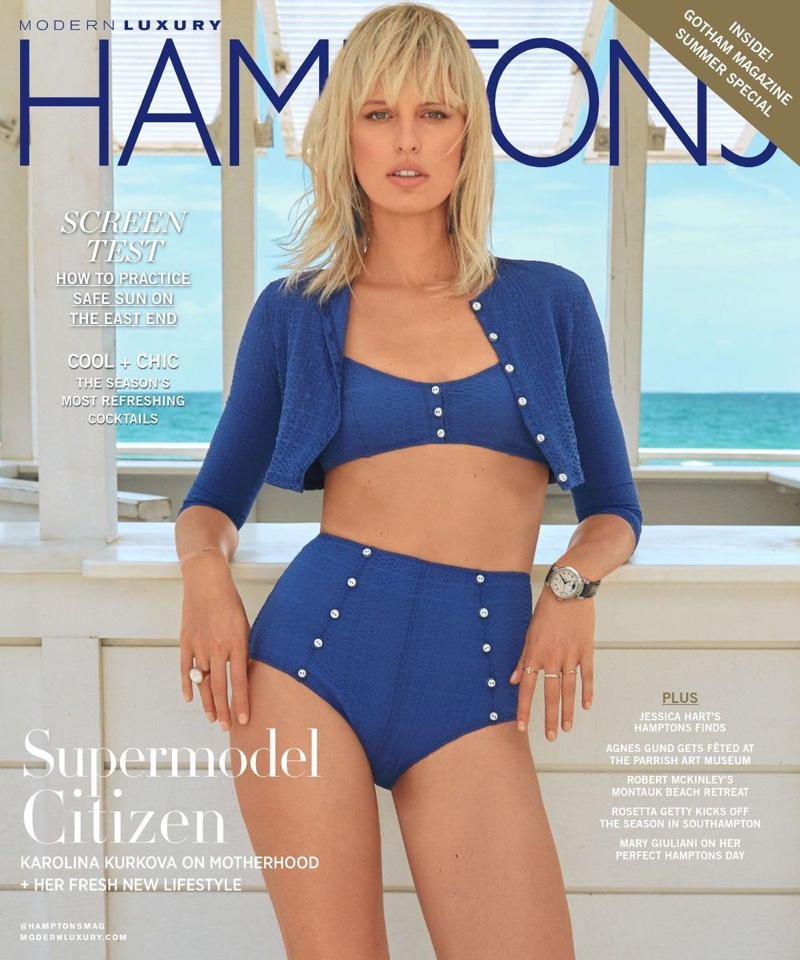 Каролина Куркова в Hamptons Magazine