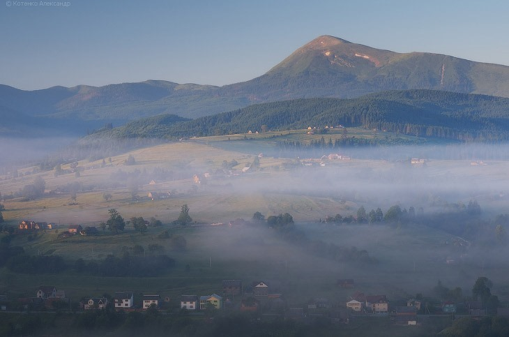 Карпаты туман горы Фотография район фотограф реки Сена
