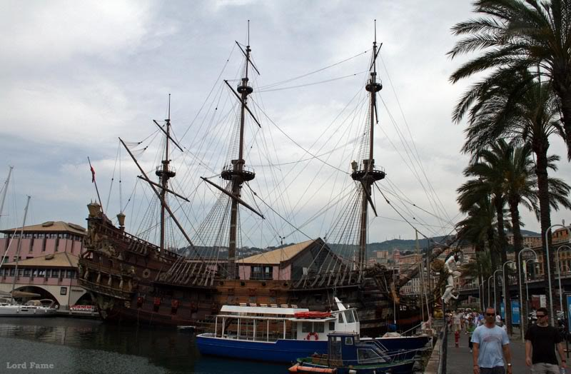 Генуя. Пиратский галеон.