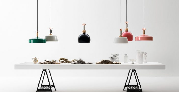 Designed by Cristina Celestino for Torremato,the bon ton suspension lamps collection has been inspir